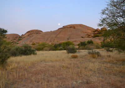 Sera all'Ameib-Ranch Erongo - Diario di viaggio in Namibia