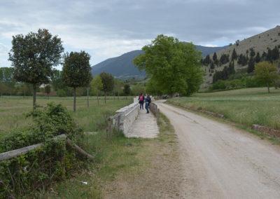 La campagna intorno al  Battistero paleocristiano di San Giovanni in Fonte, Padula