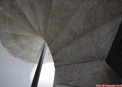 Scala a chiocciola senza sostegno centrale alla Certosa di San Lorenzo a Padula