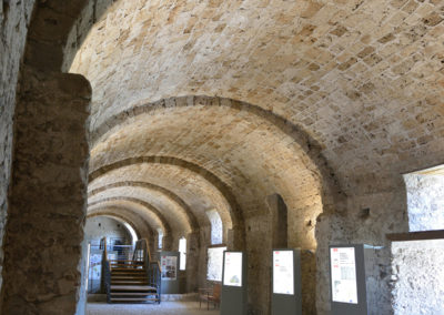 Interni dei magazzini per la conserva di derrate alla Certosa di San Lorenzo a Padula