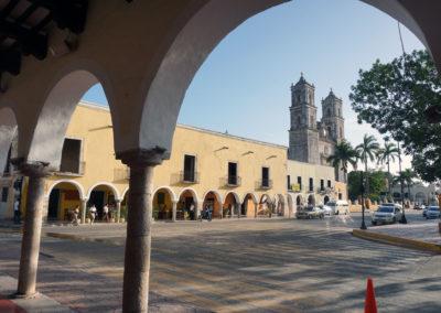 Antico-porticato-di-Valladolid-Paanorama--Valladolid-da-terrazza-El-Mason-del-Marques