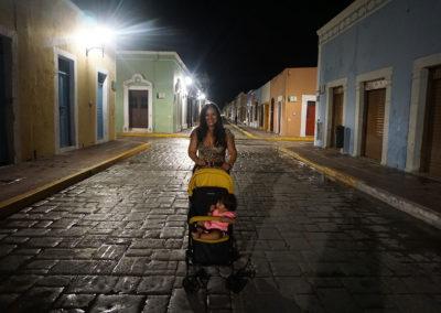 Calle-Campeche -di-notte - Diario di viaggio in Messico