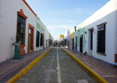 Calle-tipica-di-Campeche - Diario di viaggio in Messico