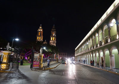 Centro-Campeche-di-notte - Diario di viaggio in Messico