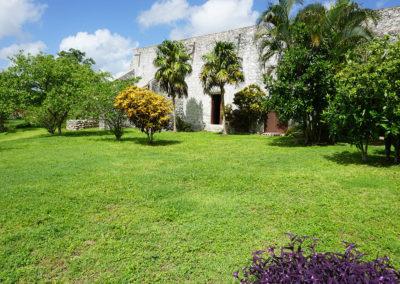 Giardini-interni-dell'-ex-Convento-di-Santiago-Domingo-Uayama -Diario di viaggio in Messico