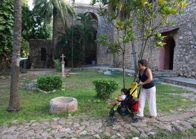 Giardino-Convento-di-San-Bernardino-da-Siena-Valladolid - Diario di viaggio in Messico