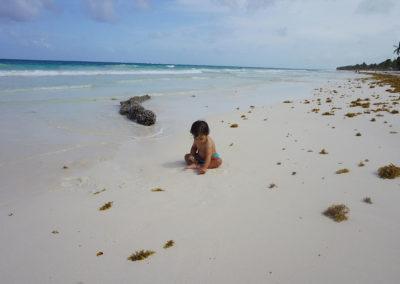 Spiaggia-e-mare-Tulum - Diario di viaggio in Messico