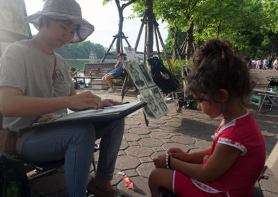 pittrice-di-strada-Lago-Hoan-Kiem--Hanoi