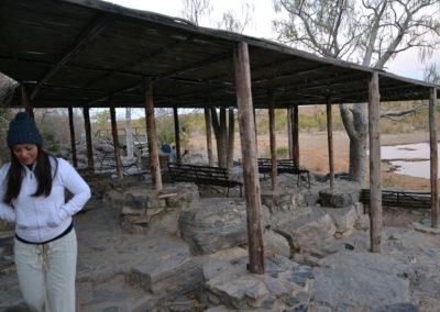 Alba Etosha pozza Aalai - Diario di viaggio in Namibia