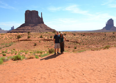 East e West Mitten Buttes Monument Valley - Diario di viaggio in USA