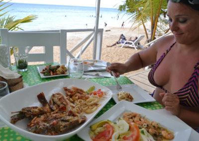 Ristorante sulla spiaggia Punta Bonita - Diario di viaggio a Santo Domingo