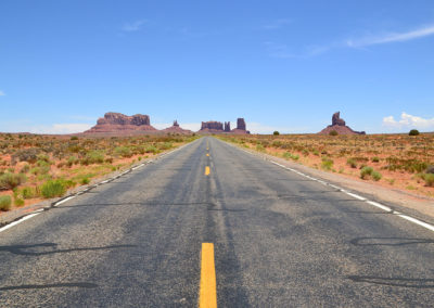Strada Monument Valley - Diario di viaggio in USA