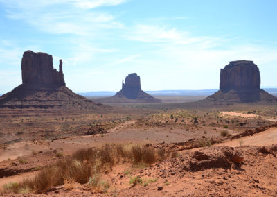 East e West Mitten Buttes Merrick Butte Monument Valley - Diario di viaggio in USA