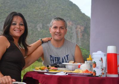 Colazione alla Cabana Manzana, Vinales - Diario di viaggio a Cuba