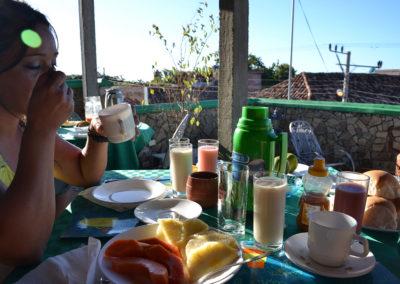 colazione Hostal Rintintin, trinidad - Diario di viaggio a Cuba