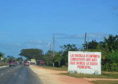 -Cartello su strada Santa Clara Varadero - Diario di viaggio a Cuba