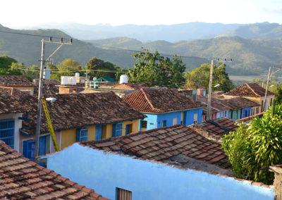 Panorama su tetti delle case di Calle Amaragura da terrazzo Hostal Lilì, Trinidad - Diario di viaggio a Cuba