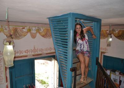 Scale terrazzo Museo de- Historia Municipal -Palatio Cantero, Trinidad - Diario di viaggio a Cuba