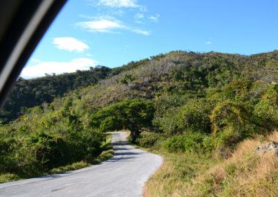 Strada per El Nicho Topes de Collantes, Trinidad - Diario di viaggio a Cuba