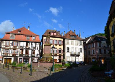Place de la Sinne, Ribeauvillè - Diario di viaggio in Alsazia