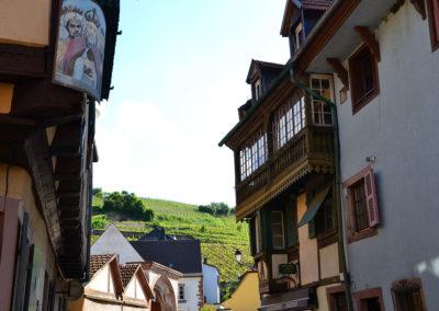 Scorci di Ribeauvillè su vigneti - Diario di viaggio in Alsazia