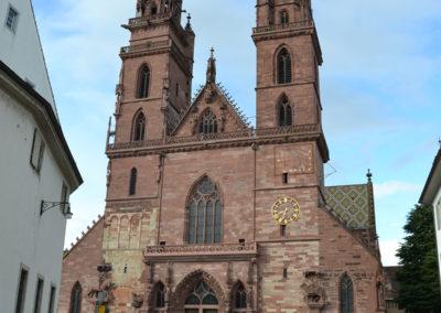 Munsterplatz e Cattedrale -Basler Munster-Basilea - Diario di vaiggio in Alsazia