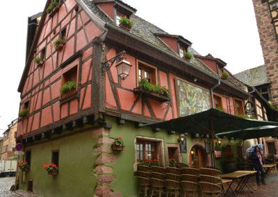 Maisons à colombages, Riquewirh - Diario di viaggio in Alsazia