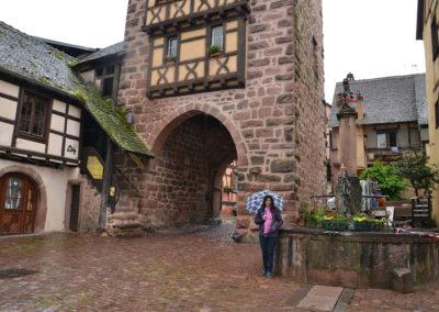 Fontaine de la Sinne, Riquewirh - Diario di viaggio in Alsazia