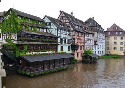 Panorama con Restaurant Au Pont San Martin, Petite France, Strasburgo -Diario di viaggio in Alsazia