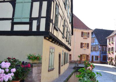 Grand Rue, Ribeauvillè prima della Place de la Republique,Ribeauvillè - Diario di viaggio in Alsazia