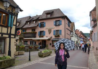Grand Rue, Eguisheim - Diario di viaggio in Alsazia