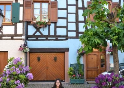 Grand Rue prima della Place de la Republique, Ribeuvillè - Diario di viaggio in Alsazia