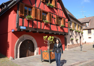 Place de la Republique, Ribeuvillè - Diario di viaggio in Alsazia