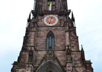 Facciata Cattedrale di Friburgo in Brisgovia -Diario di viaggio in Alsazia