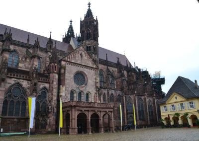 Munstersplatz, Cattedrale di Friburgo in Brisgovia -Diario di viaggio in Alsazia