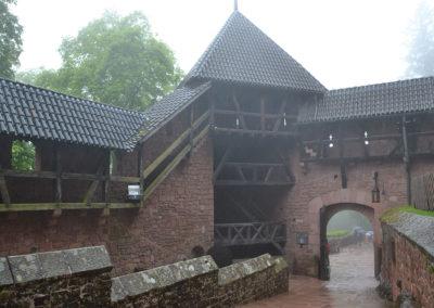 Uscita dal castello di Haut, Koenigsbourg - Diario di viaggio in Alsazia