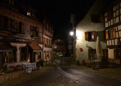 Notte sulla Grand Rue, Ribeauvillè -Diario di viaggio in Alsazia