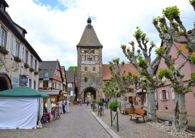 Porte Haute su Grand Rue, Bergheim - Diario di viaggio in Alsazia