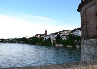 Panorama Mittlere Brucke, Basilea - Diario di vaiggio in Alsazia