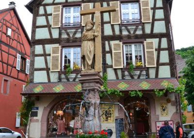 Fontaine Costantine, Rue du General de Gaulle, Kaysersberg - Diario di viaggio in Alsazia