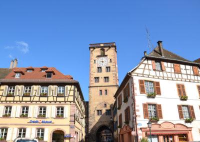 Torre dei Macellai - Tour des Bouchers -e palazzi della Place de Hotel de Ville, Ribeauville - Diario di viaggio in Alsazia