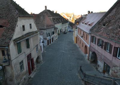 Vista appartamento su strada Turnului, area medievale bassa della città e su Turnul Scarilor -Torre delle Scale, Sibiu - Diario di viaggio in Transilvania - Romania