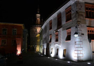 Piata Cetatii e la Casa col Cervo (Casa cu Cerb), Sighisoara - Diario di viaggio in Transilvania - Romania