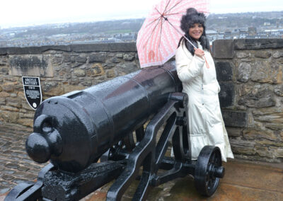Edinburgh Castle Argyle Battery Diario di viaggio in Scozia.