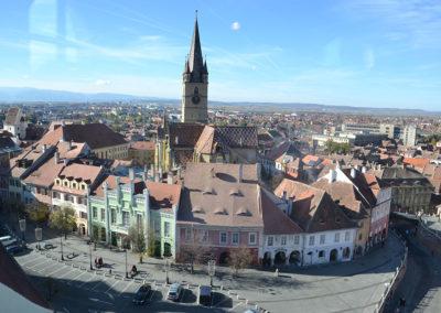 -Panorama centro storico Sibiu dal Turnul Stafului, Sibiu - Diario di viaggio in Transilvania - Romania