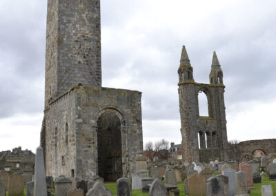 St Andrews Cathedral, cimitero e St. Rules Tower - Diario di viaggio in Scozia
