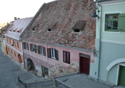 Vista appartamento su strada Turnului e sul Turnul Scarilor, Sibiu - Diario di viaggio in Transilvania - Romania
