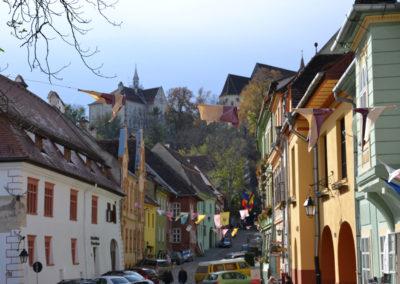 Strada Scolil, Sighisoara - Diario di viaggio in Transilvania - Romania