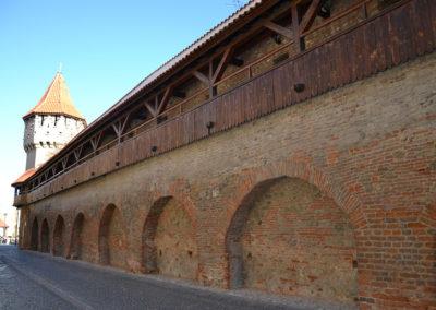 Mura di cinta e Turnul Olarilor -Torre dei Vasai, Strada Cetatii, Sibiu - Diario di viaggio in Transilvania - Romania