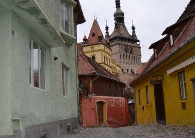 Strada Turnului, Sighisoara - Diario di viaggio in Transilvania - Romania.